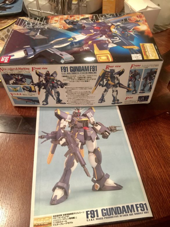 Gundam F91 bought at Nakama Toys Chicago